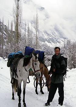 Filming in the Karakorum Photograph