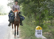Riding through India Photograph